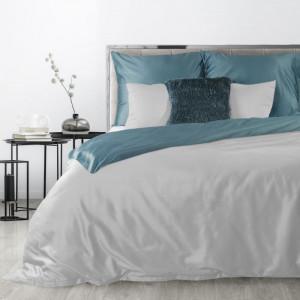Luxusné sivo tyrkysové posteľné obliečky bavlnený satén