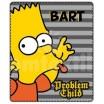 Hrubá detská deka Disney Bart Simpson