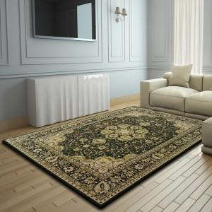 Luxusný koberec v zelenej farbe
