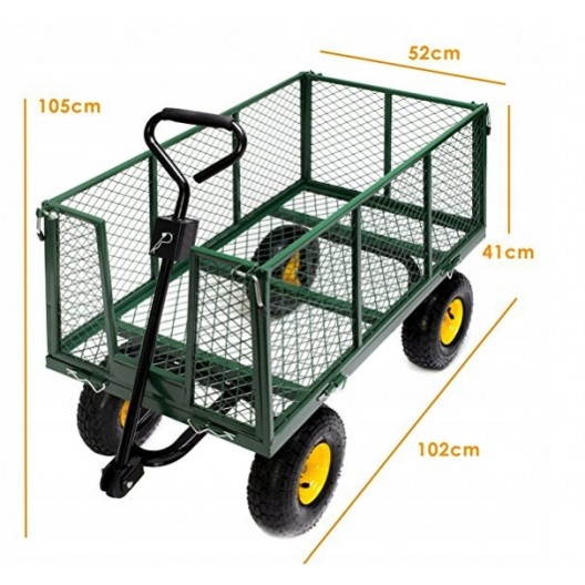 Kvalitný záhradný vozík na nafukovacích kolesách 3v1