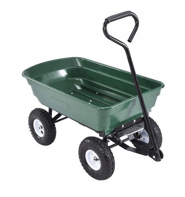 Vyklápací záhradný vozík s pevnou rukoväťou