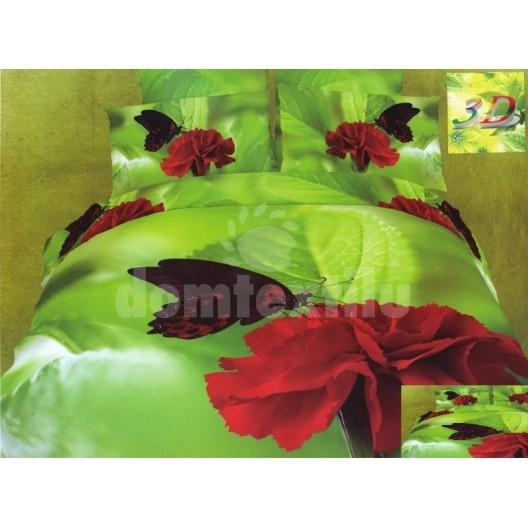 Značkové posteľné obliečky zelenej farby s motýľom