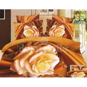 Luxusné obliečky s bielou ružou