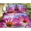Luxusné obliečky s fialovou margarétkou