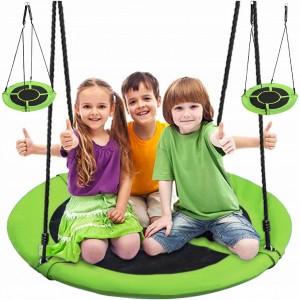 Závesný hojdací kruh pre deti  v zelenej farbe