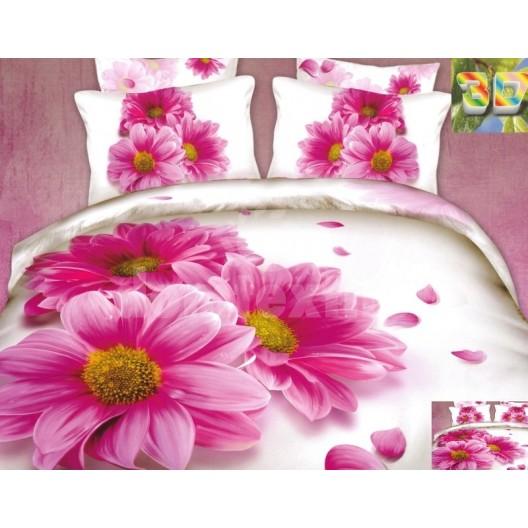 Luxusné posteľné návliečky s ružovou margarékou