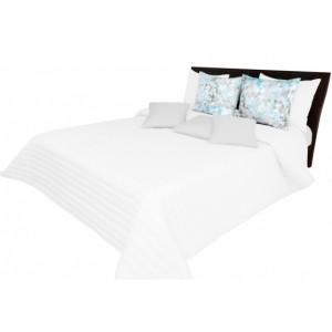 Biely prehoz na posteľ s prešívaním 220 x 240 cm SKLADOM