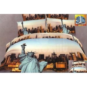 Moderné posteľné obliečky 100% bavlnený satén New York