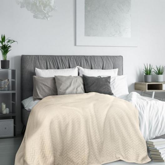Hebká dekoračná deka béžovej farby