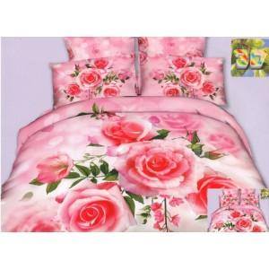 Luxusné posteľné návliečky ružovej farby s motívom ruží