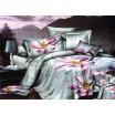 Luxusné návliečky s fialovým kvetom