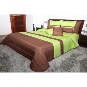 Kvalitné prikrývky na dvojposteľ zeleno hnedej farby 220 x 240 cm SKLADOM
