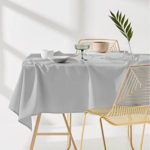 Kuchynský obrus svetlo sivej farby 110 x 160 cm