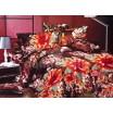 Moderné posteľné obliečky bavlnený satém s kvetinami