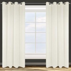 Vzdušná krémová záclona na kruhy 140 x 250 cm
