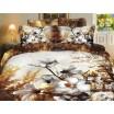 Luxusné posteľné obliečky 100% bavlnený satém s čerešňovými kvetmi