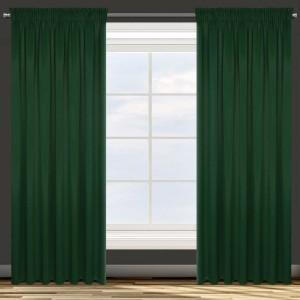 Moderný tmavo zelený zatemňujúci záves 135 x 270 cm