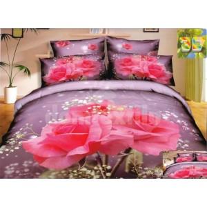 Moderné posteľné obliečky 100% bavlnený satém s peknými ružami