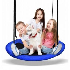 Závesný hojdací kruh pre deti  v modrej farbe