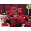 Luxusné posteľné obliečky 100% bavlnený satém s červenými ružami