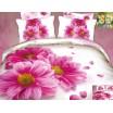 Luxusné posteľné obliečky 100% bavlnený satém s ružovými sedmokráskami