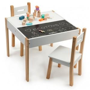 Viacúčelový detský stolík so stoličkami