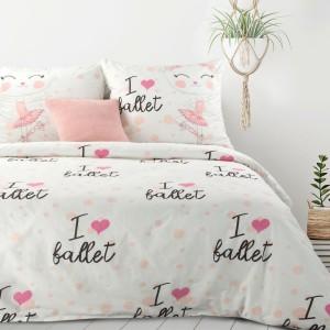 Krásne biele bavlnenené posteľné obliečky pre dievčatko 140 x 200 cm
