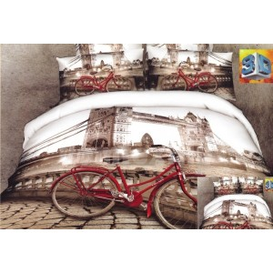 Luxusné posteľné obliečky 100% bavlnený satém Tower Bridge