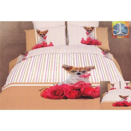 Luxusné posteľné obliečky 100% bavlnený satém s čivavou