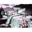 Moderné posteľné návliečky s fialovými kvetmi