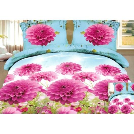 Moderné posteľné návliečky s ružovými kvetmi