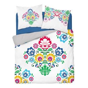 Bavlnené posteľné obliečky s ľudovým motívom