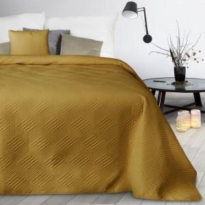 Žltý prehoz s geometrickým vzorom