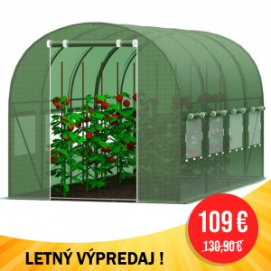 LETNÝ VÝPREDAJ Záhradný fóliovník 2,5 x 4 m