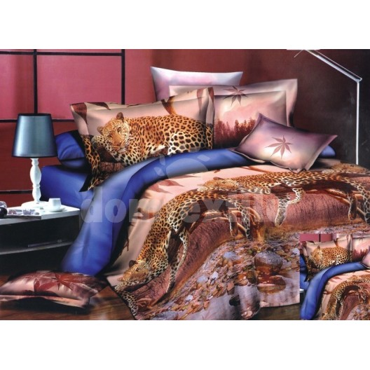Moderné posteľné návliečky s leopardmi