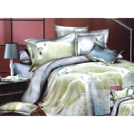 Moderné posteľné návliečky s ľadovým medveďom