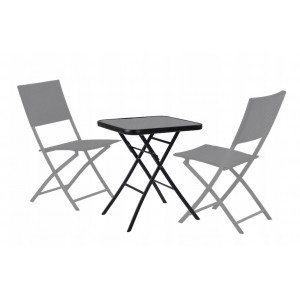 Čierny skladací záhradný stôl 60 cm