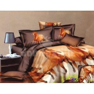 Obliečky na manželskú posteľ s cválajucimi koňmi