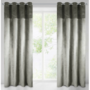 Luxusný sivý záves do obývačky s vysokým stupňom zatemnenia