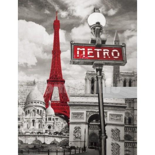 Prehozy na postele šedej farby mesta Paríž