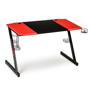 Počítačový herný stolík v červeno čiernej kombinácii