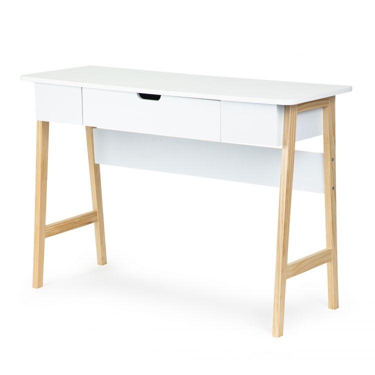 DomTextilu Konzolový stolík do obývacej izby Biela
