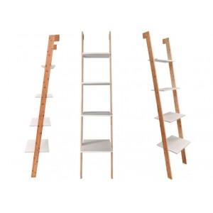 Štýlová univerzálna polica v modernom rebríkovom dizajne