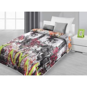 Prikrývka na posteľ, prehoz na posteľ s motívom mesta New York