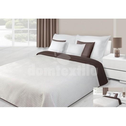 Biely prešívaný prehoz na manželskú posteľ