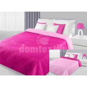 Prehoz na manželskú posteľ jednofarebný ružový