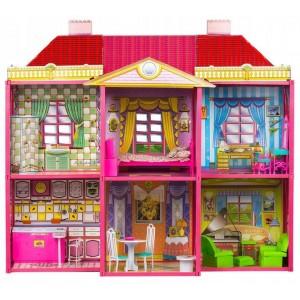 Domček pre bábiky pre bábiky 128 prvkov + nábytok