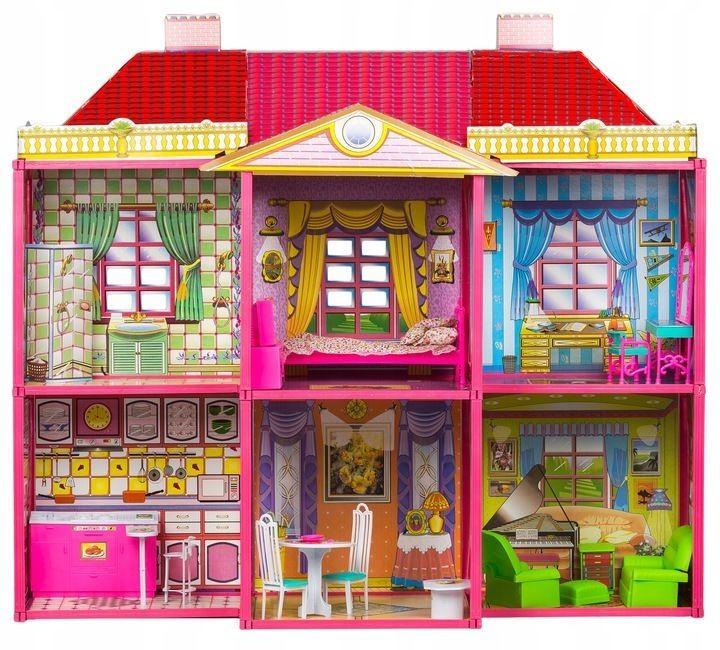 DomTextilu Domček pre bábiky pre bábiky 128 prvkov + nábytok 43388