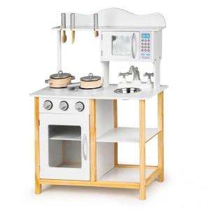 Drevená kuchynka pre deti + doplnky Ecotoys