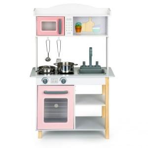 Drevená kuchynka pre deti + kovové doplnky